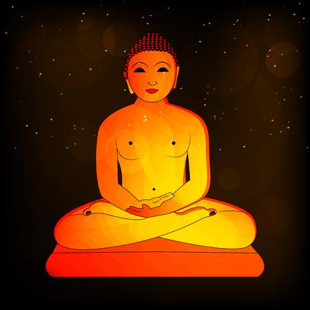 Illustration of background for Mahavir Jayanti