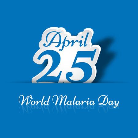 Illustration of background for World Malaria Day