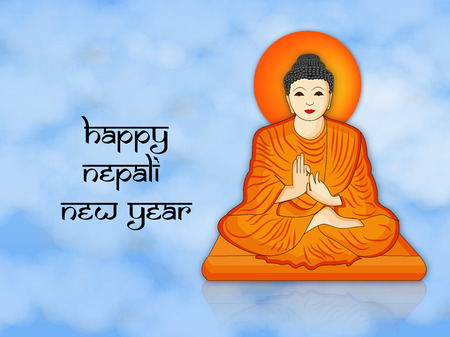 Illustration of background for Nepali New Year Illustration