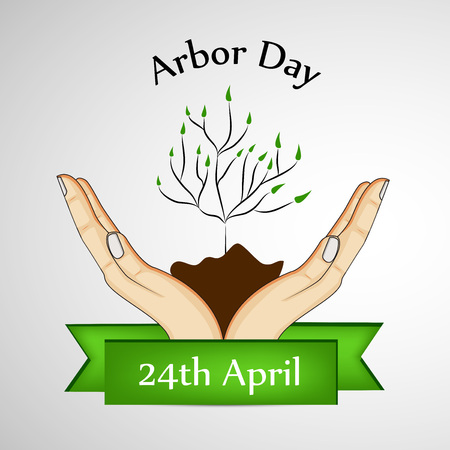 Illustration of background for Arbor Day