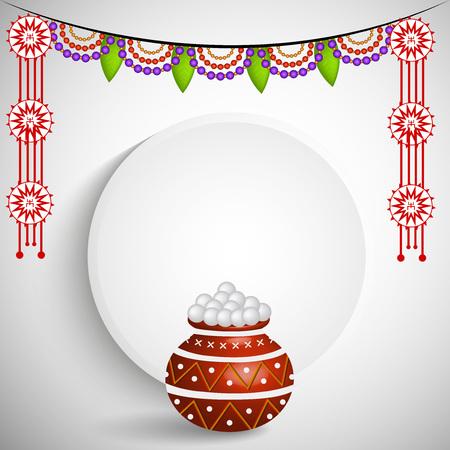 Illustration of background for Bengali New Year