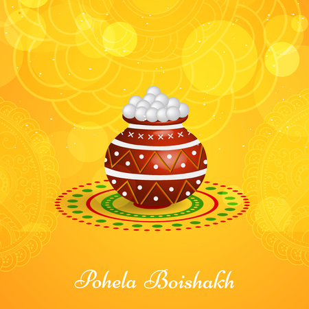 Illustrazione di sfondo per il nuovo anno bengalese