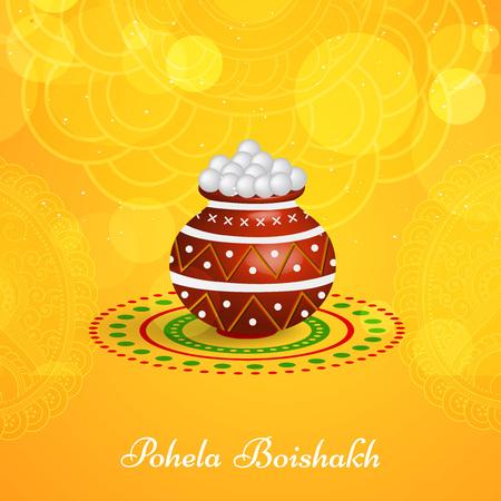 Ilustración del fondo para el Año Nuevo bengalí