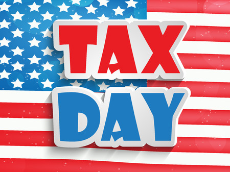 Illustration of background for Tax Day