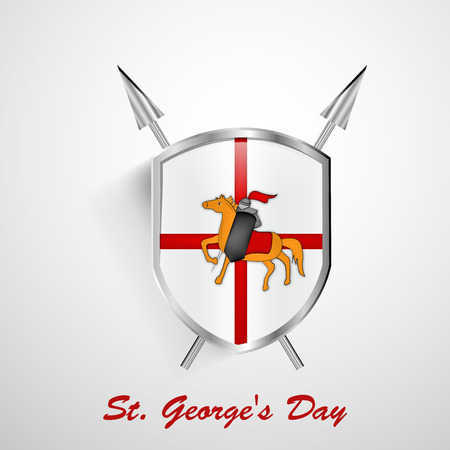 Illustration of background for St. Georges Day