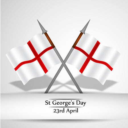 Illustration of background for St. George's Day