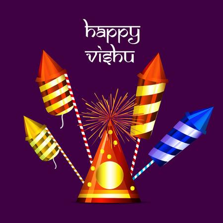 Illustration of background for Vishu Illustration