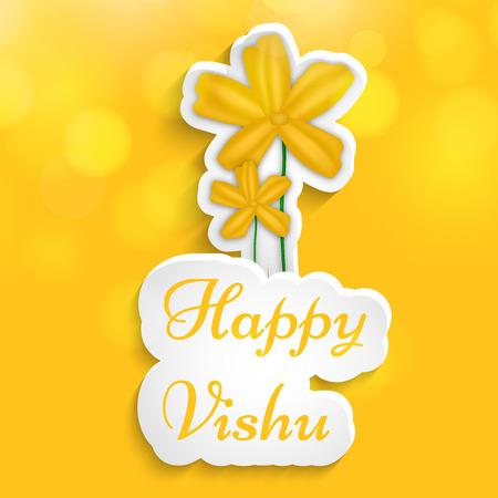 Illustration of background for Vishu