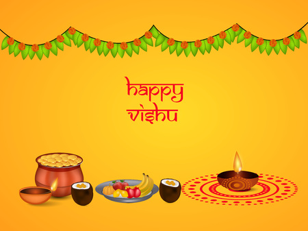 Illustration of background for Vishu Stock Illustratie
