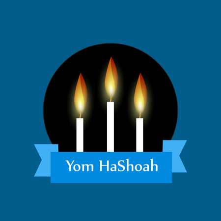 Jewish Yom HaShoah Remembrance Day background