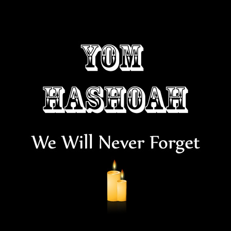 Jewish Yom HaShoah Remembrance Day background