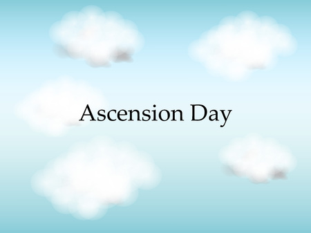Ascension Day background Stock Illustratie