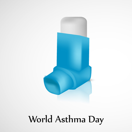 asthma inhaler: World Asthma Day background