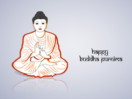 Buddha Purnima background Illustration