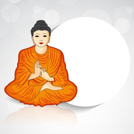 Buddha Purnima background Illustration