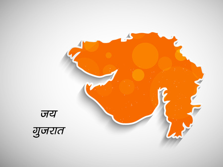 Gujarat Day background Ilustracja