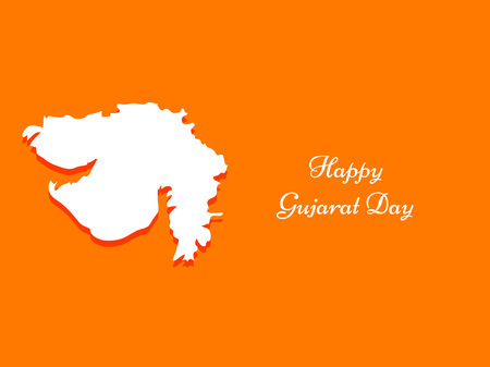 Gujarat Day background Illustration