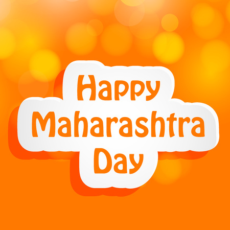 Maharashtra Day background Illustration