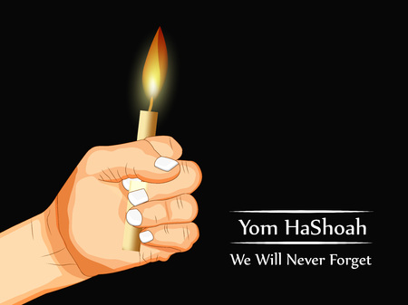 yom: Jewish Yom HaShoah Remembrance Day background