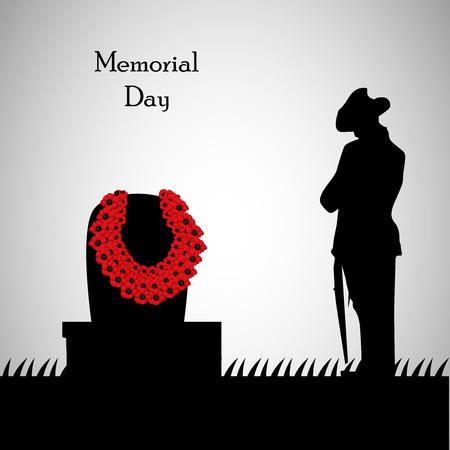 Memorial Day background Illusztráció