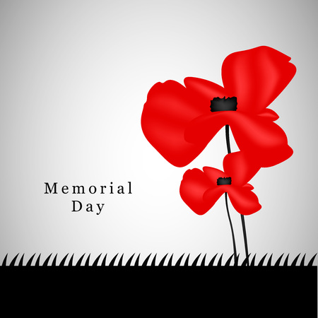 memory card: Memorial Day background Illustration