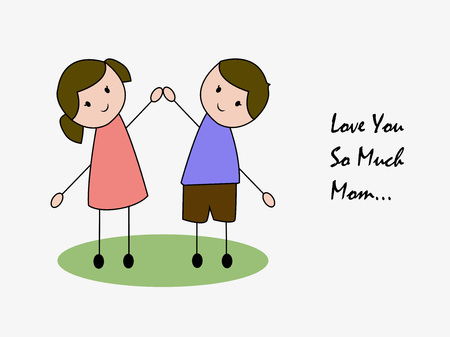 Mothers Day background Illustration