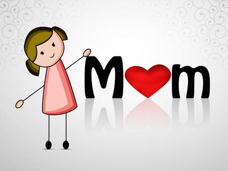 Mothers Day background Illustration