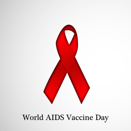 aids awareness ribbon: World AIDS Vaccine Day background