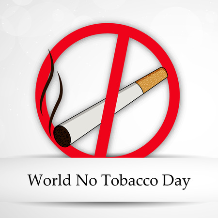 World No Tobacco Day background. Stock Photo