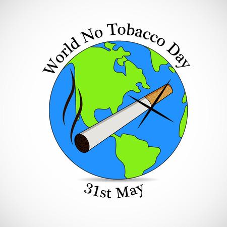 31st: World No Tobacco Day background