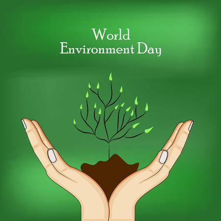 Wereldomgeving Dag achtergrond