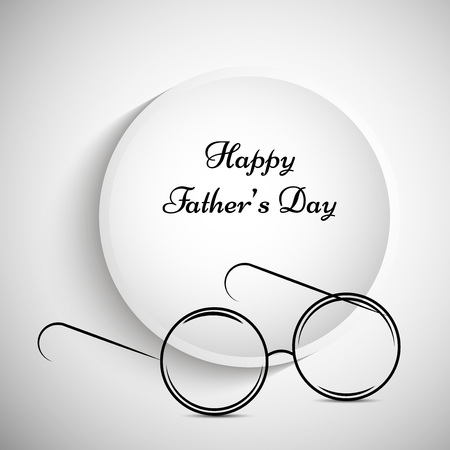 Father's Day Background Vector Illustration