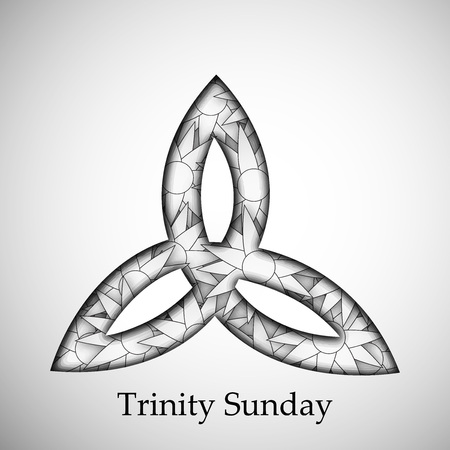 Trinity Sunday Background Stock Illustratie