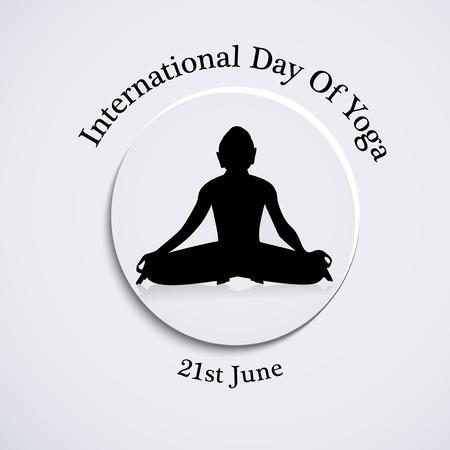 Yoga day background Illustration