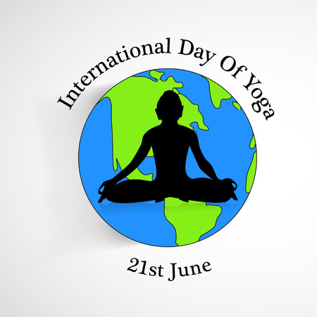 grren: Yoga day background Illustration