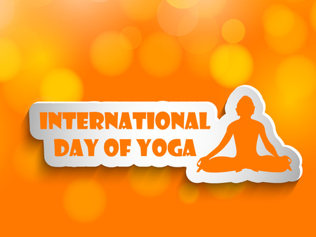 Yoga day background Illustration