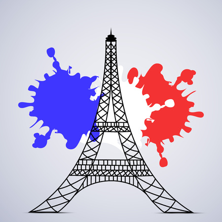 Illustration of elements for France Bastille Day background