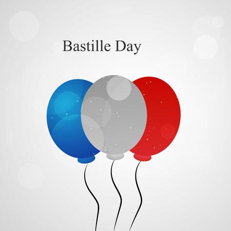 fourteen: Illustration of elements for France Bastille Day background