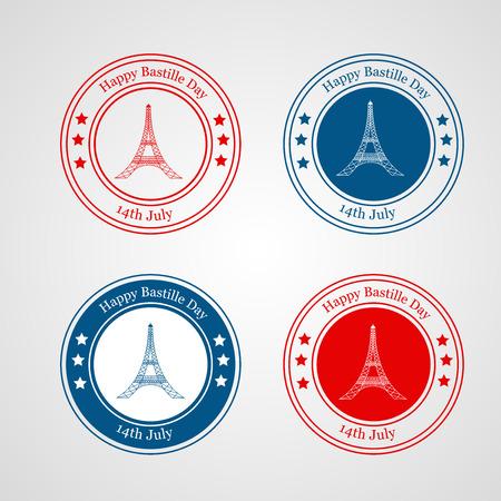 Illustration of elements for France Bastille Day background