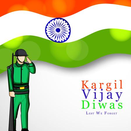 forget: illustration of Kargil Vijay Diwas background. It is celebrated on 26 July every year in honour of the Kargil Wars Heroes in India.
