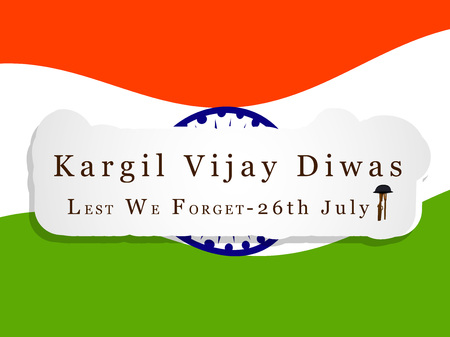 illustration of Kargil Vijay Diwas background. It is celebrated on 26 July every year in honour of the Kargil Wars Heroes in India.
