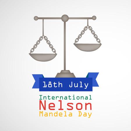 illustration of International Nelson Mandela Day Background