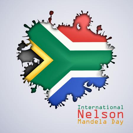 illustratie van de internationale achtergrond van Nelson Mandela Day Stock Illustratie