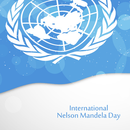 illustration of International Nelson Mandela Day background