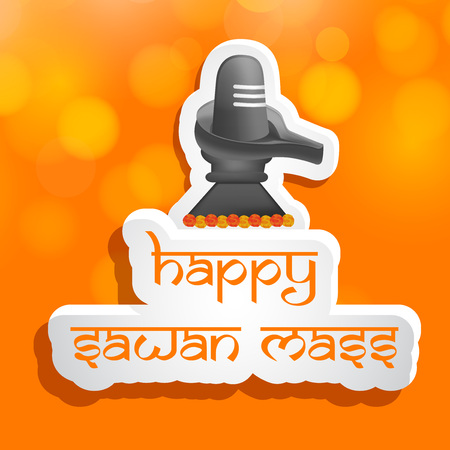 illustration of hindu festival Sawan Mass background