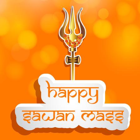 illustration of hindu festival Sawan Mass background