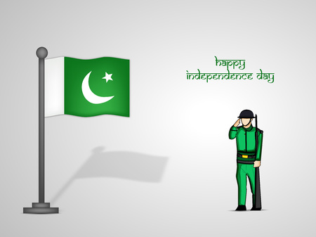 6th: illustration of Pakistan Independence Day Background