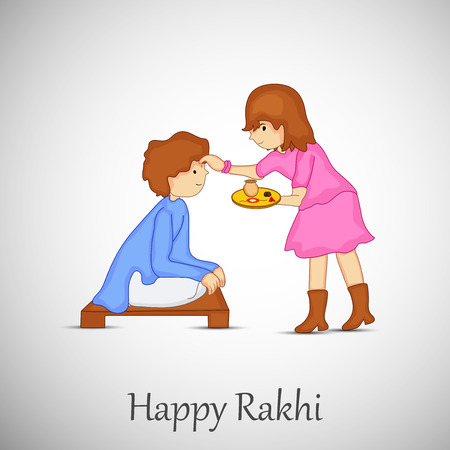 illustration of Hindu Festival Raksha Bandhan Background