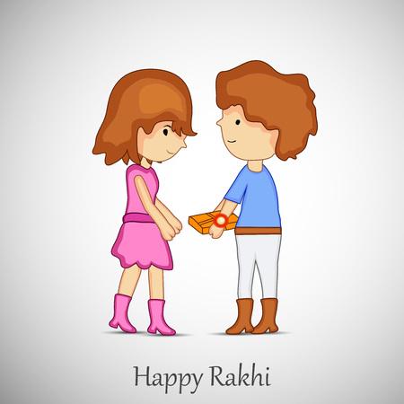 illustration of Hindu Festival Raksha Bandhan Background