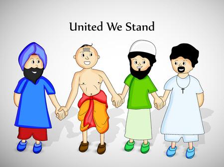 illustration of  different religion and symbols background Ilustração